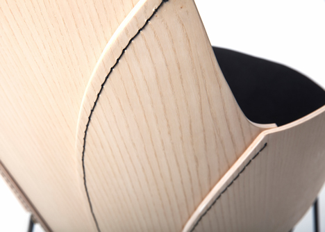 Färg & Blanche stitch wood together to form furniture
