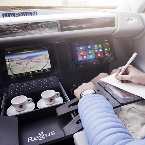 Driverless cars designed for use as mobile offices