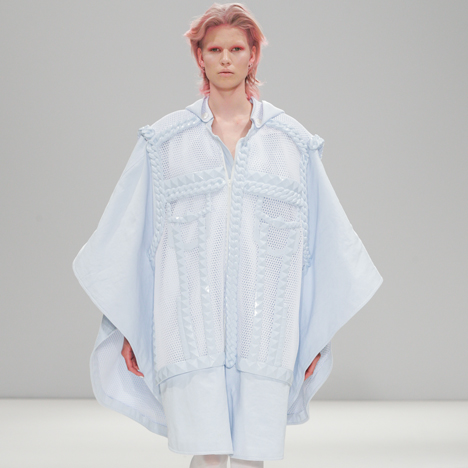 Silicon details outline garments in Xiao Li's Autumn Winter 2014 collection