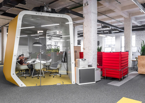 office pods. Colourful Pods House Meeting Rooms In IT Firm Offices By Za Bor Architects. \ Office 4