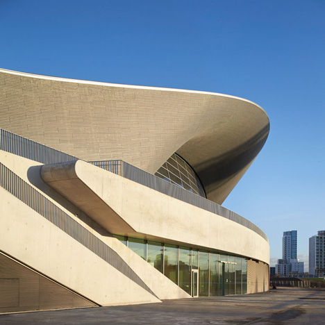 Zaha Hadid's Aquatics Centre in London