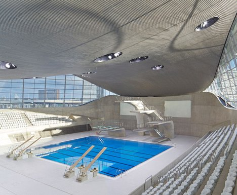 Zaha Hadid's Olympic aquatics centre due to open in its completed form