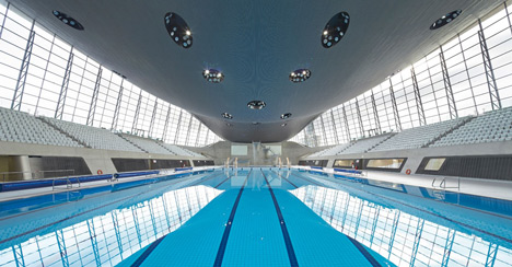 zaha hadids olympic aquatics centre due to open in its completed form - Olympic Swimming Pool 2014