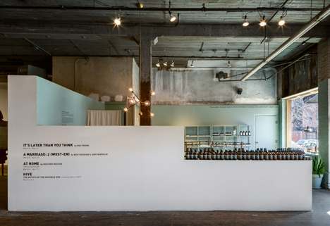 Aesop New York pop up shop installation by Frida Escobedo