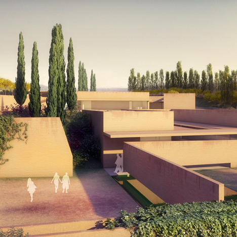 Alvaro Siza presents new entrance for the Alhambra_dezeen_1sq