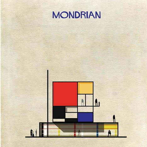 Famous works of art transformed into buildings in Federico Babina's Archist Series