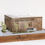 Architectural model demonstrates Shigeru Ban's new Aspen Art Museum