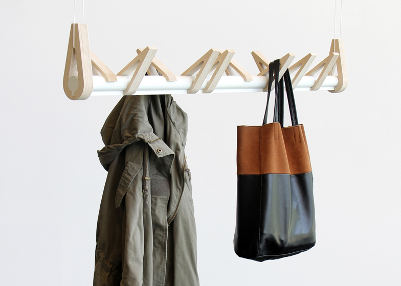 Birds in a Row coat rack by Christine Herold and Katharina Ganz