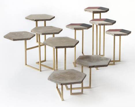 Discarded materials from Milanese homes used to make furniture by Atelier Biagetti