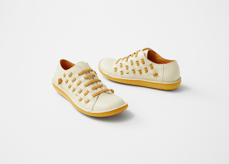 Nendo creates Beetle shoe for Camper with laces slotted through the uppers