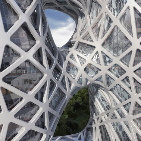 Zaha Hadid unveils sculptural hotel<br /> for casino resort in Macau