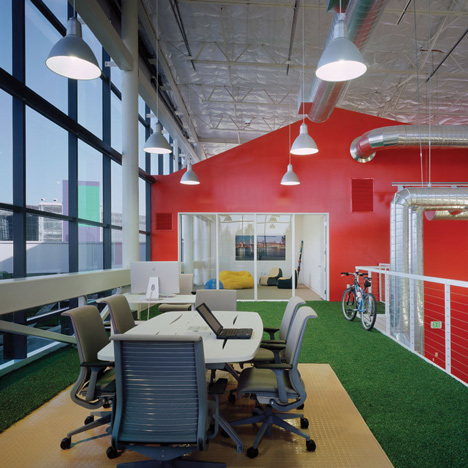 Google was cubicle land when we started designing offices for Office design google