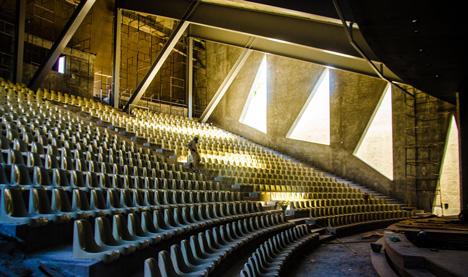 Concrete auditorium by Valentiny HVP Architects built for Brazils Musica em Trancoso festival