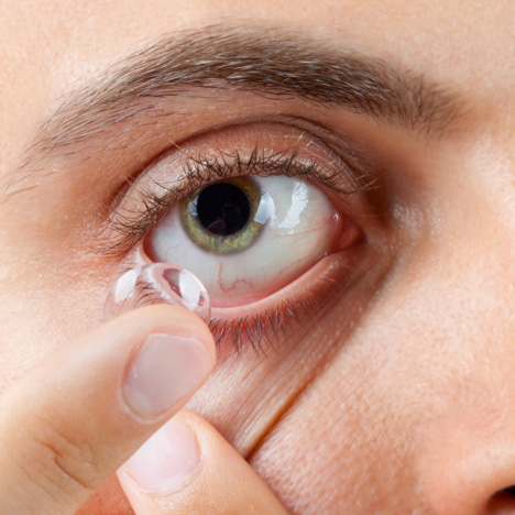 Contact lens image from Shutterstock