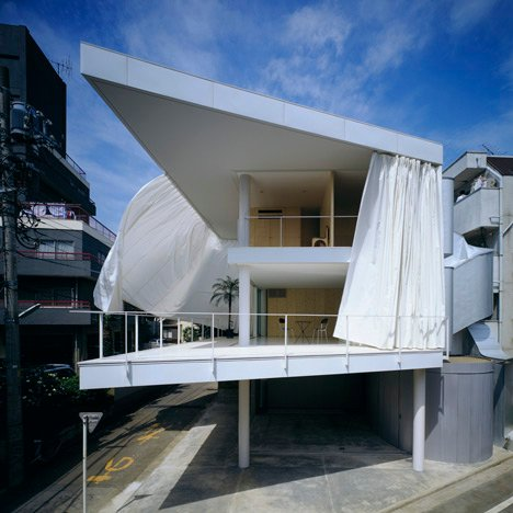 Curtain Wall House by Shigeru Ban