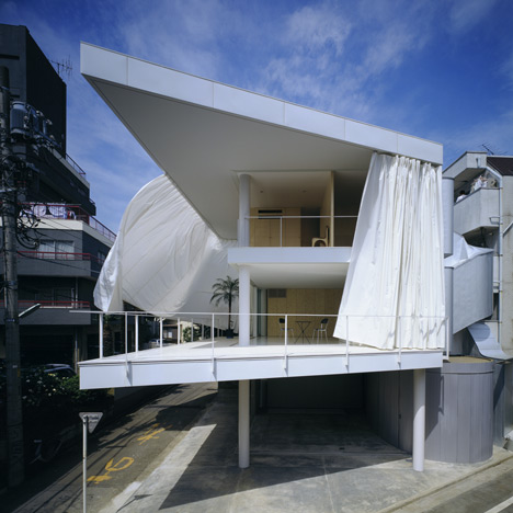 Curtain Wall House by Shigeru Ban