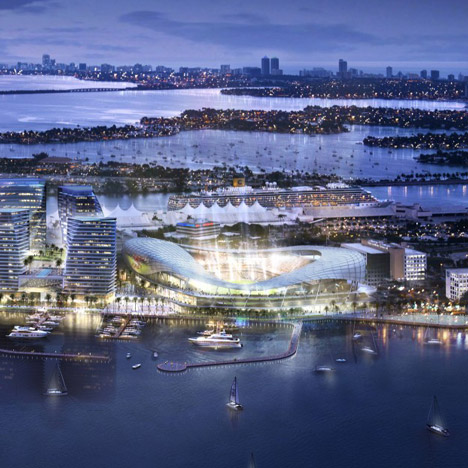 David Beckham unveils seafront stadium proposal for Miami port