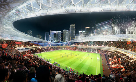 David Beckham unveils seafront stadium in Miami port