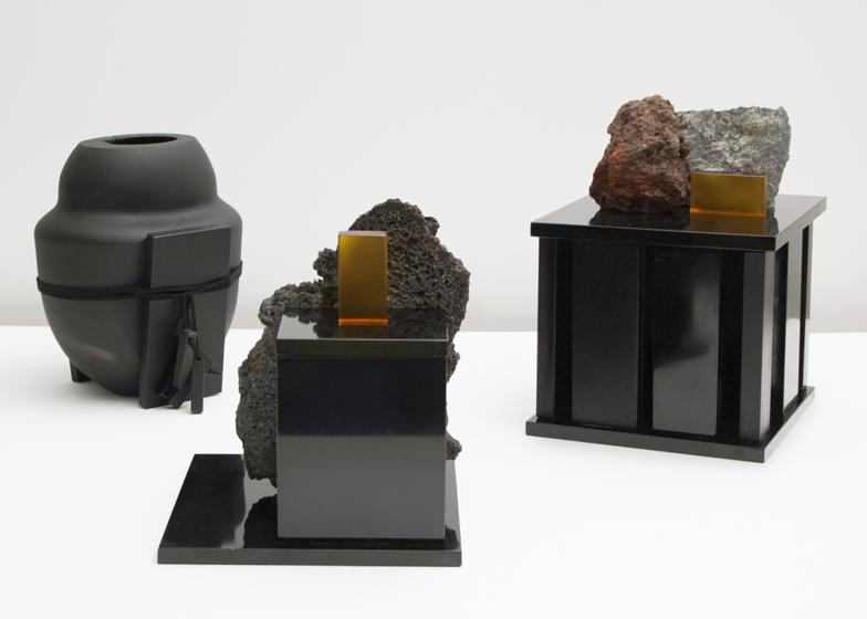 Alicudi vase, Linguaglossa box and Zafferana box