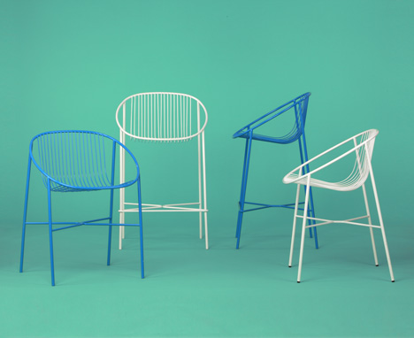 Shelltwo Chair and Stool by VW+BS for Decode