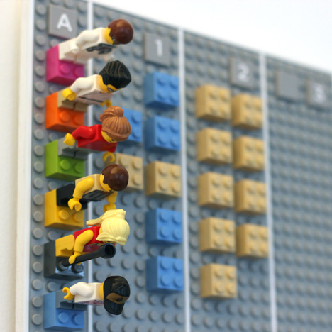 Lego Calendar designed by Adrian Westaway, Clara Gaggero, Duncan Fitzsimons, Simon Emberton. Photograph by Adrian Westaway