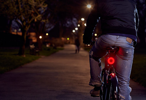Double O bicycle lights by Paul Cocksedge