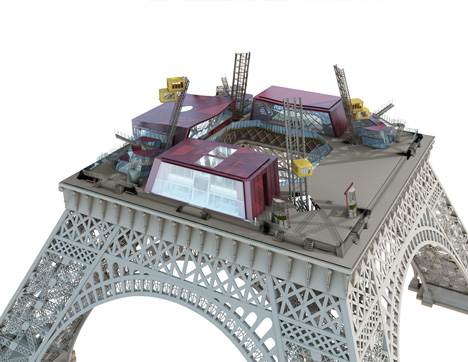 New first floor for the Eiffel Tower by Moatti-Rivière Architects nears completion