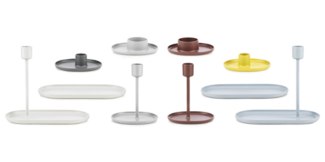 Family of candle holders created by Simon Legald for Normann Copenhagen
