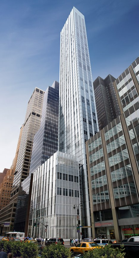 Fosters Skinny Skyscraper Underway Next To Mies Seagram Building