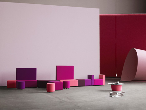+HALLE Lobby seating system