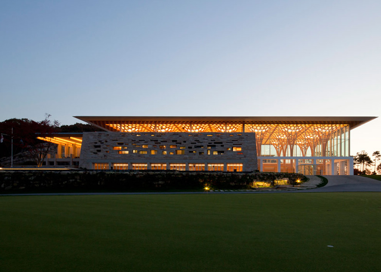 Haesley Nine Bridges Golf Club House by Shigeru Ban