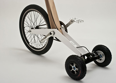 Pedal Powered Scooter Resembles A Low Tech Segway