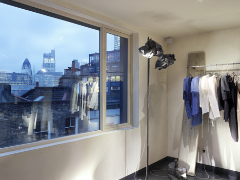 Industrial materials used to furnish Hostem womenswear interior by JamesPlumb