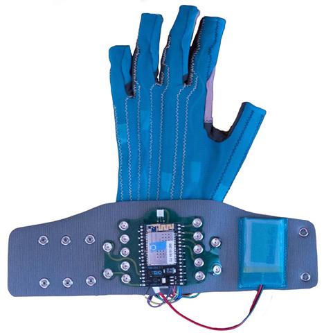 Imogen Heap demonstrates Mi.Mu gloves
