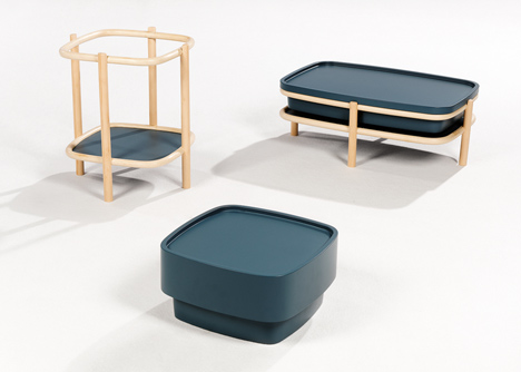 Rattan cane supports Insulaire furniture collection by Numéro 111