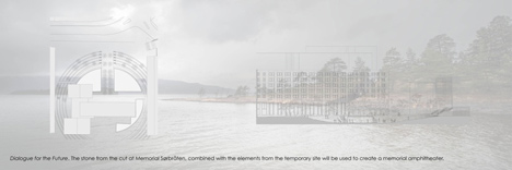 Landscape intervention by Jonas Dahlberg to honour Norwegian terrorist attack victims