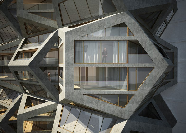 Tammo Prinz's conceptual skyscraper would be built from tessellating modules