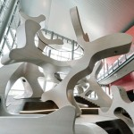 Autostadt installation by J. Mayer H. provides huge shapes for children to clamber over