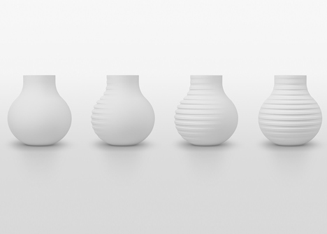 Mutant vase by Yiannis Ghikas has a sci-fi surface pattern