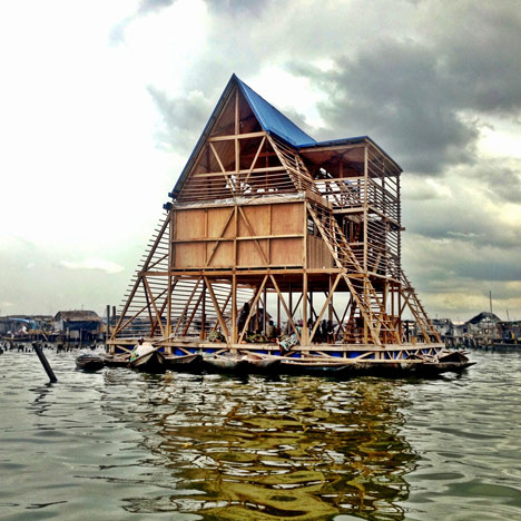 Nles floating school casts anchor in lagos lagoon ccuart Image collections