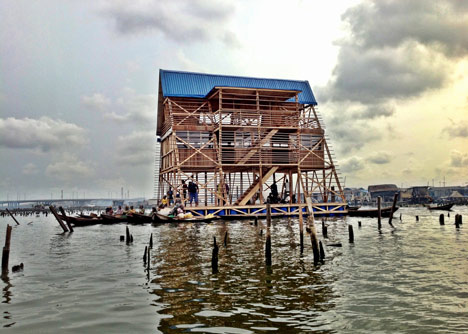 NLE's floating school casts anchor in Lagos Lagoon