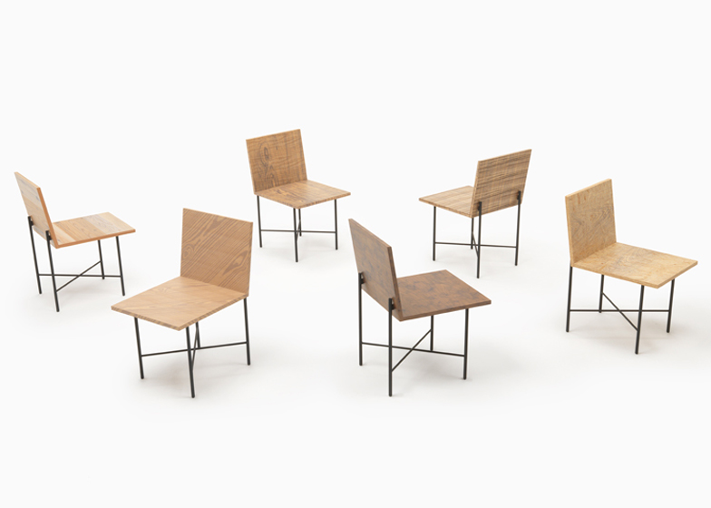 Nendo's solo exhibition in Milan to showcase chairs that mix printed and natural grains