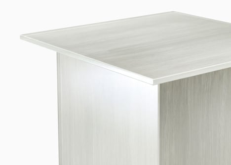 Nendo patterns glass furniture for Glasitalia with brush strokes