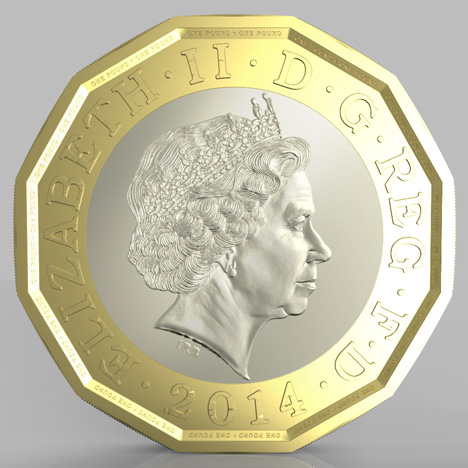 UK Royal Mint's design for a 12-sided £1 coin