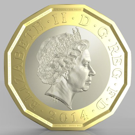 New UK £1 coin