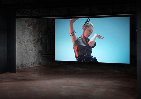 Gestures manipulate interactive fashion films at POST exhibition