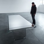 Tokujin Yoshioka to unveil mirrored glass table for Glas Italia in Milan