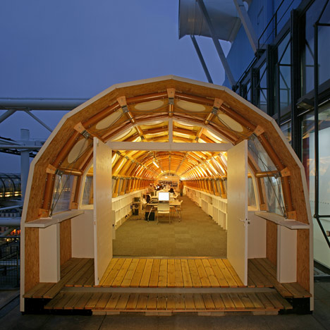 Paper Temporary Studio by Shigeru Ban