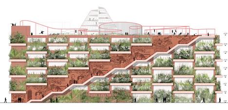 Elevation of Park n Play car park by JAJA Architects