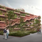Pompidou-inspired car park by JAJA Architects to feature planted facade and rooftop park